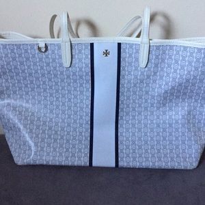 d812269fb621 TORY BURCH Gemini Link Coated Canvas Tote  IVORY